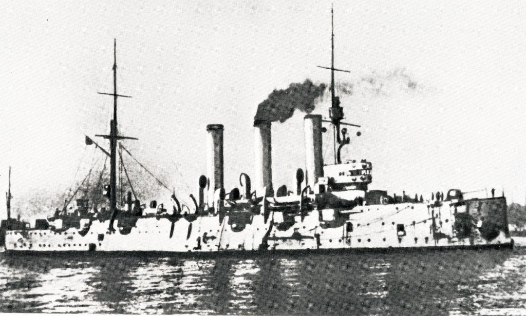 8. The cruiser Aurora on the river Neva which fired the shot that was the signal for insurrection