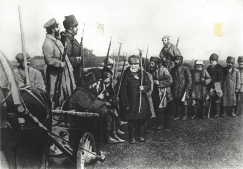 2. Peasants armed themselves in the autumn of 1917 on hearing of General Kornilov's attempted coup