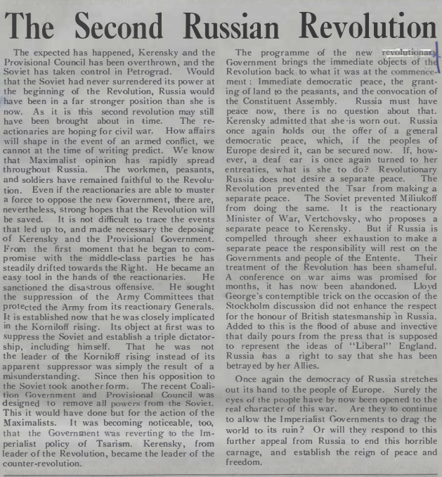 TheCall Issue84_15Nov1917_SecondRussianRevolution