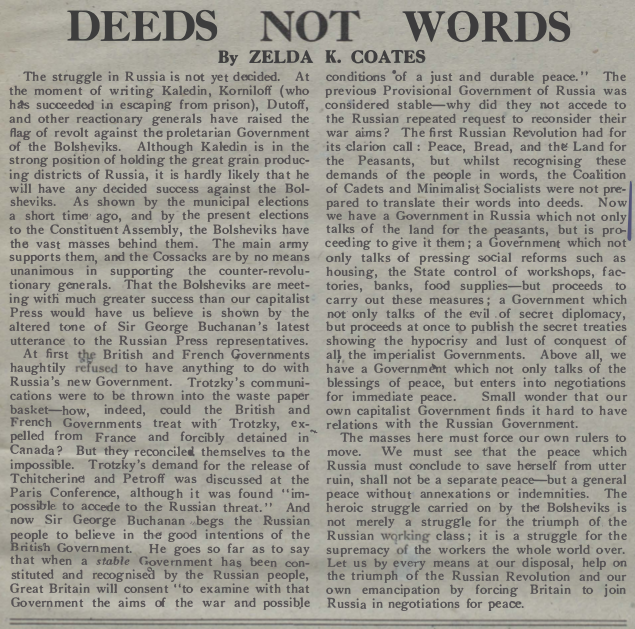 TheCall Issue88_13Dec1917_DeedsNotWords